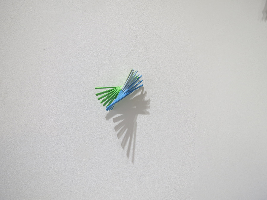 1. 'Construction in Blue and Pale Green', Sarah Thornton-Smith, rendered wood battens, $80