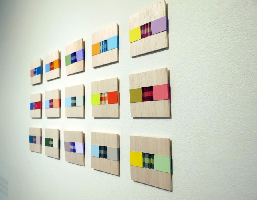15. 'Nature Rhythms i-xv', Sarah Thornton-Smith, gouache on paper, balsa frame, $70 each