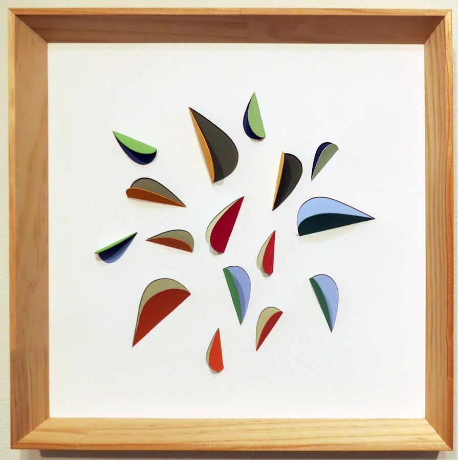 18. 'Leaf Impression 2', Sarah Thornton-Smith, gouache on cutouts, framed, $350