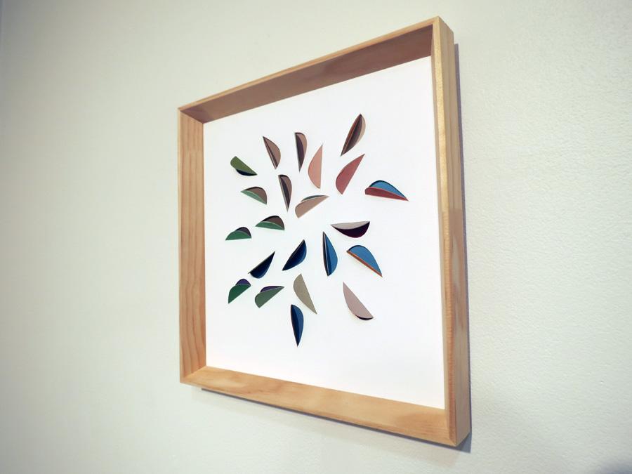 19. 'Leaf Impression 3', Sarah Thornton-Smith, gouache on cutouts, framed, $350