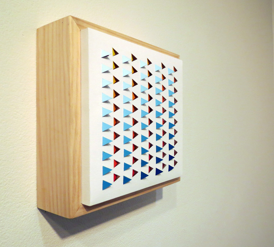 20. 'Electro Backbeat 1', Sarah Thornton-Smith, gouache on paper, boxed frame, $320, side view