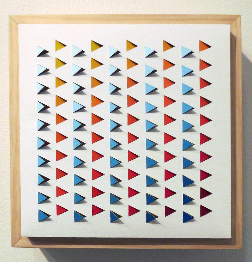 20. 'Electro Backbeat 1', Sarah Thornton-Smith, gouache on paper, boxed frame, $320