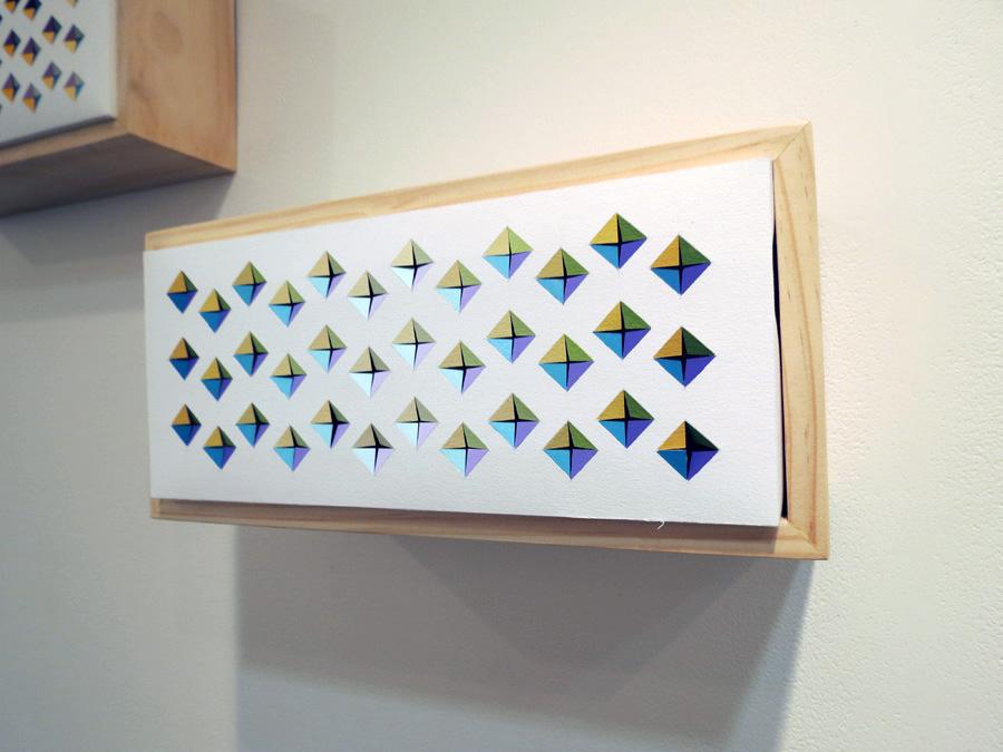 23. 'Trip Echo 1', Sarah Thornton-Smith, gouache on paper, boxed frame, $320