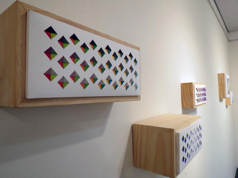 24. 'Trip Echo 2', Sarah Thornton-Smith, gouache on paper, boxed frame, $320