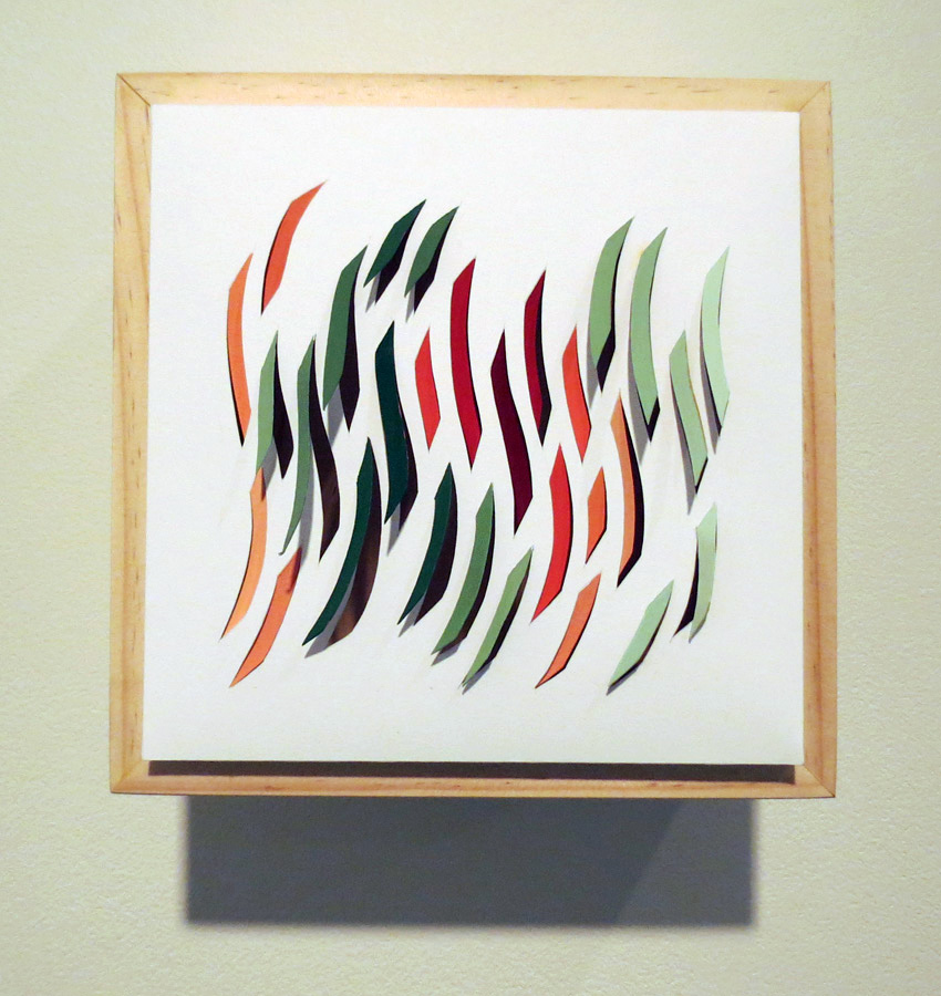 25. 'Gum Leaves in the Sun', Sarah Thornton-Smith, gouache on paper, boxed frame, $300
