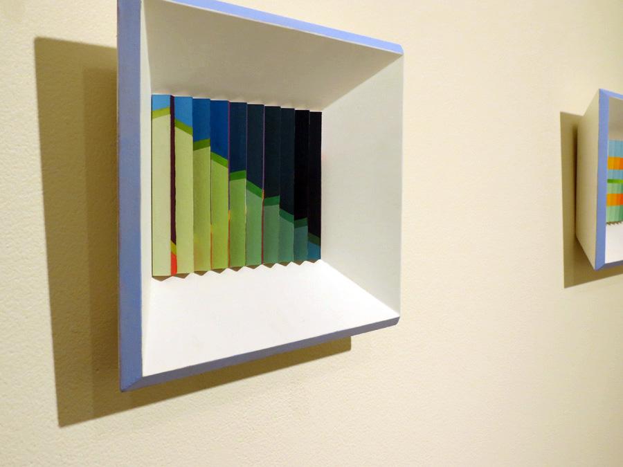 28. 'Arpeggios', Sarah Thornton-Smith, gouache on paper, framed, $360