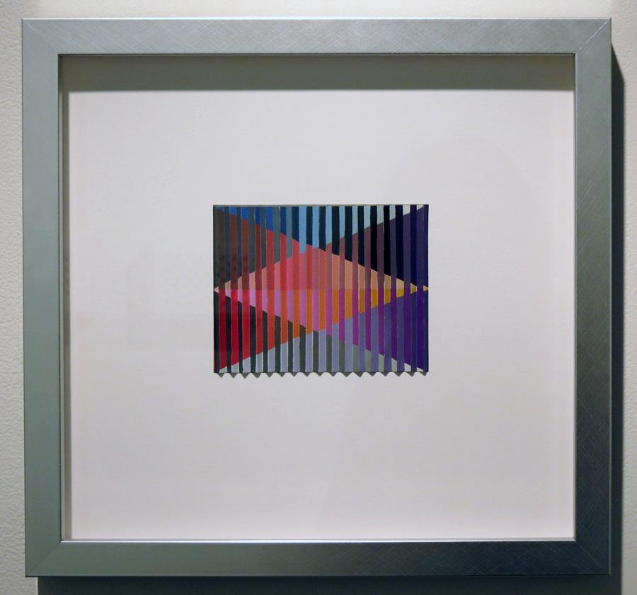 35. 'Reintegration', Sarah Thornton-Smith, gouache on paper, framed, $420