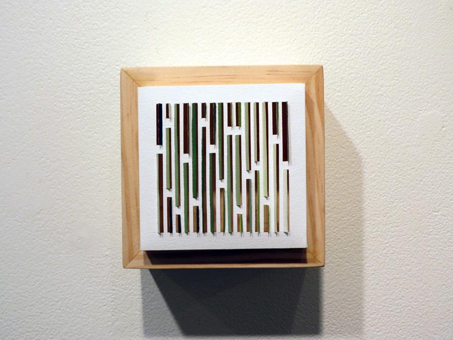 36. 'Bark Shingle 1', Sarah Thornton-Smith, gouache on paper, boxed frame, $220