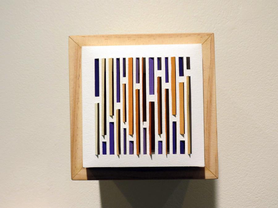 37. 'Bark Shingle 2', Sarah Thornton-Smith, gouache on paper, boxed frame, $220