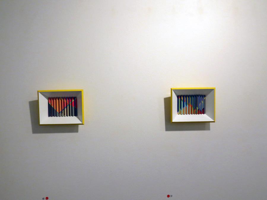 39. 'Autumn Groove', Sarah Thornton-Smith, gouache on paper, framed, $360  40. 'Summer Rhythm', Sarah Thornton-Smith, gouache on paper, framed, $360