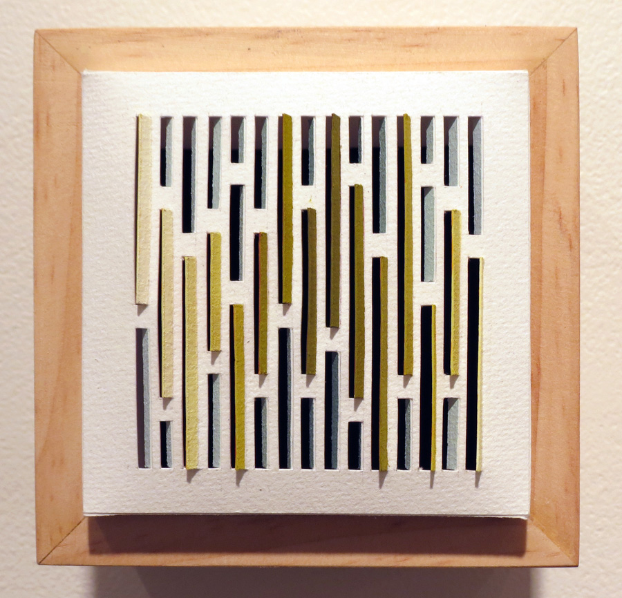 38. 'Bark Shingle 3', Sarah Thornton-Smith, gouache on paper, boxed frame, $220