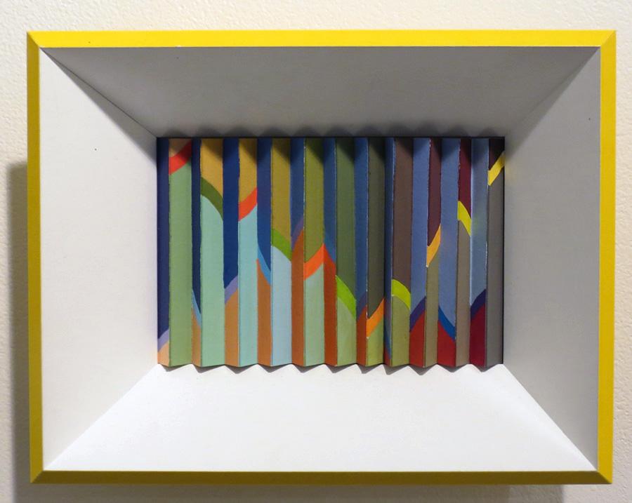 39. 'Autumn Groove', Sarah Thornton-Smith, gouache on paper, framed, $360
