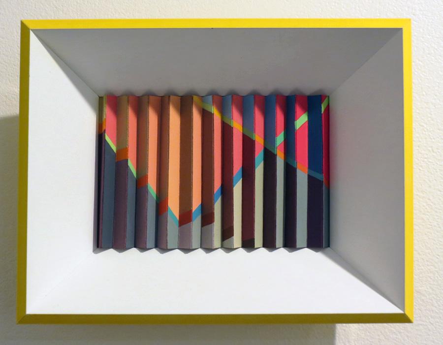 40. 'Summer Rhythm', Sarah Thornton-Smith, gouache on paper, framed, $360