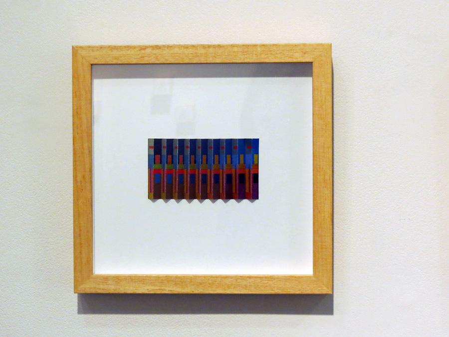 42. 'Syncopated Blues', Sarah Thornton-Smith, gouache on paper, framed, $360