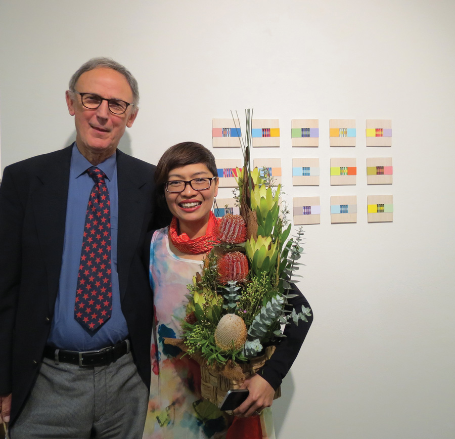 Sarah Thornton-Smith with Dr Paul Green-Armytage
