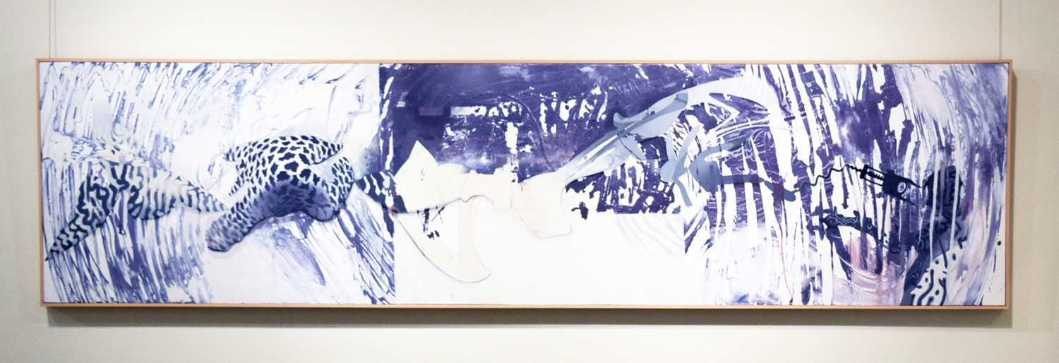 15. Ben Joel, 'Fugue'n' and Alludin'', 2005, acrulic and oil on canvas, $7,500