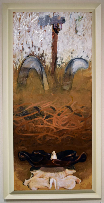 20. Ben Joel, 'Atlas', 2008, oil on board, $2,200
