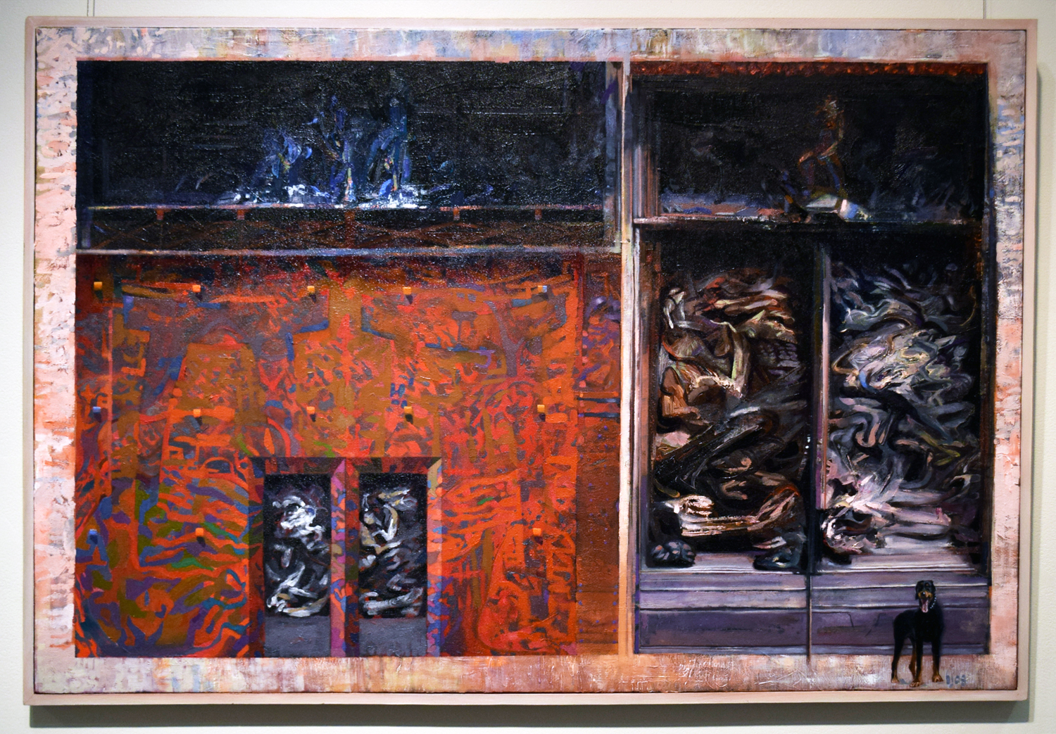 24. Ben Joel, 'Limbo Gates', 2008, acrylic and oil on board, on loan from a private collection