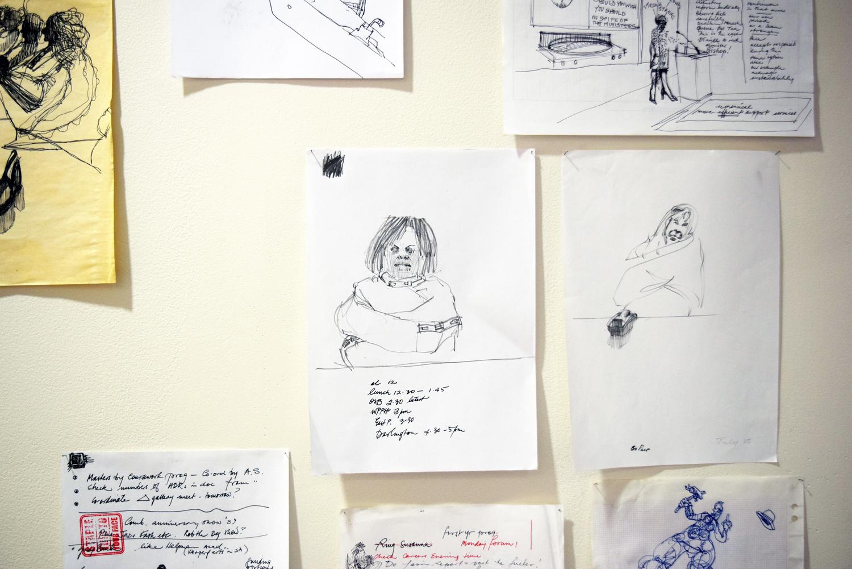 27. Ben Joel, 'Meeting Notes' (detail), 1989-2006, various media, NFS
