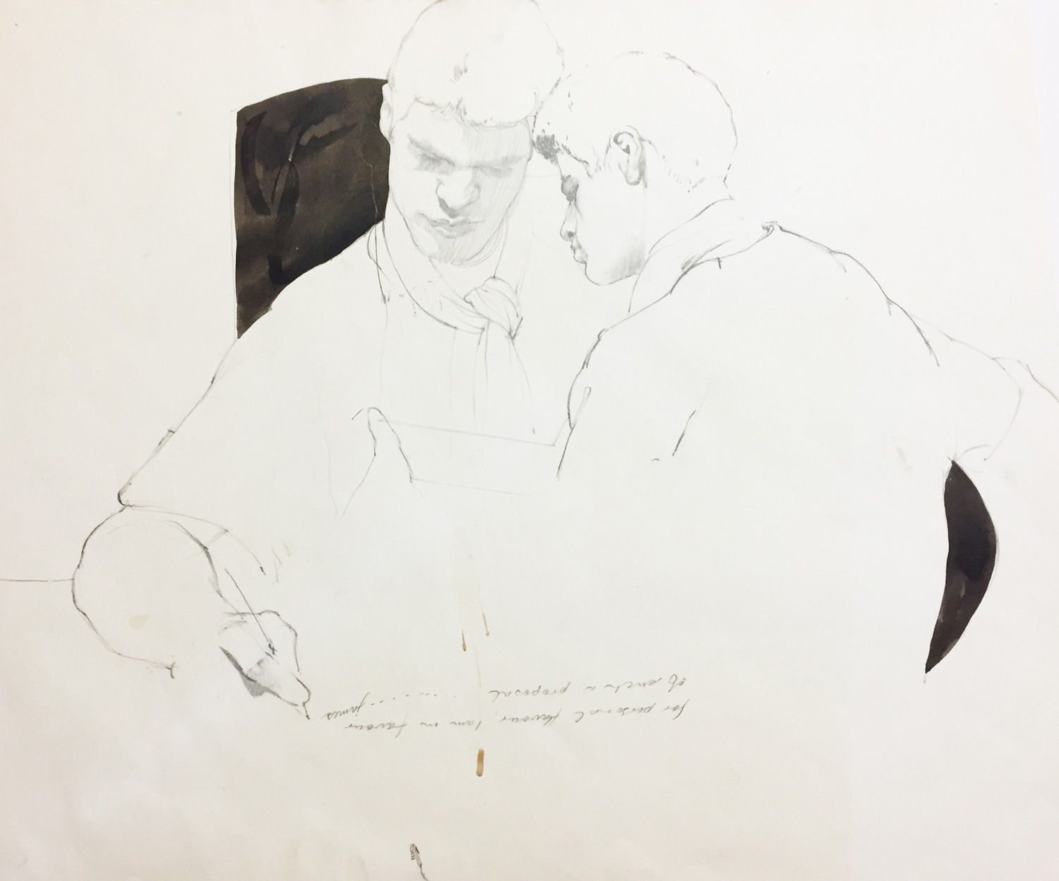Ben Joel,  Mr Dibble Twice  1983 ,  pencil on paper
