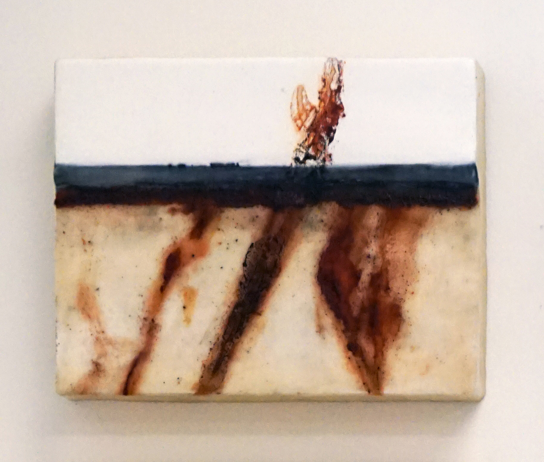 13. Marisa Tindall,  Nature Unearthed 6 , 2017, wax, ground marri charcoal, resin on ply, $190