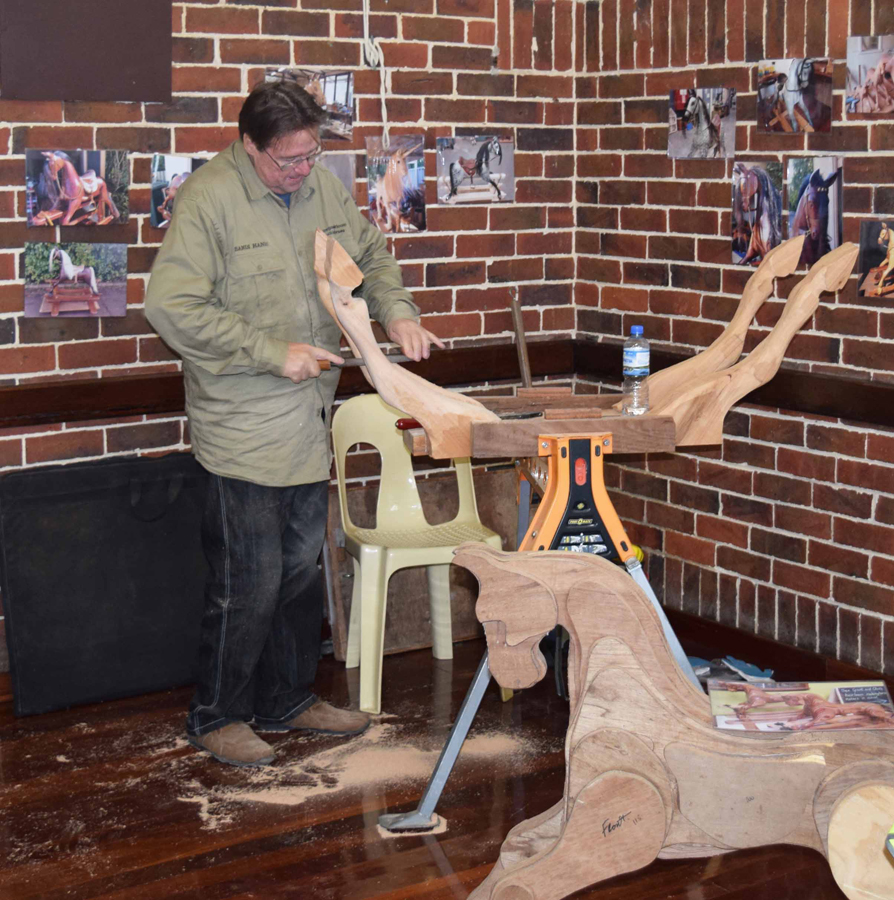 Grant Flannigan rocking horses display.jpg