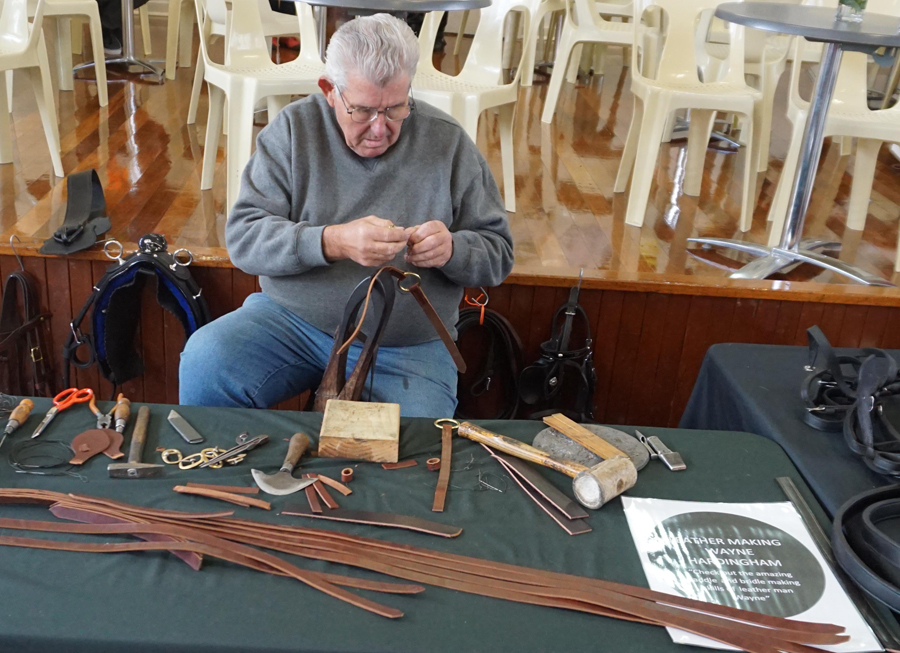 Wayne Hardingham leather crafting display 2.jpg