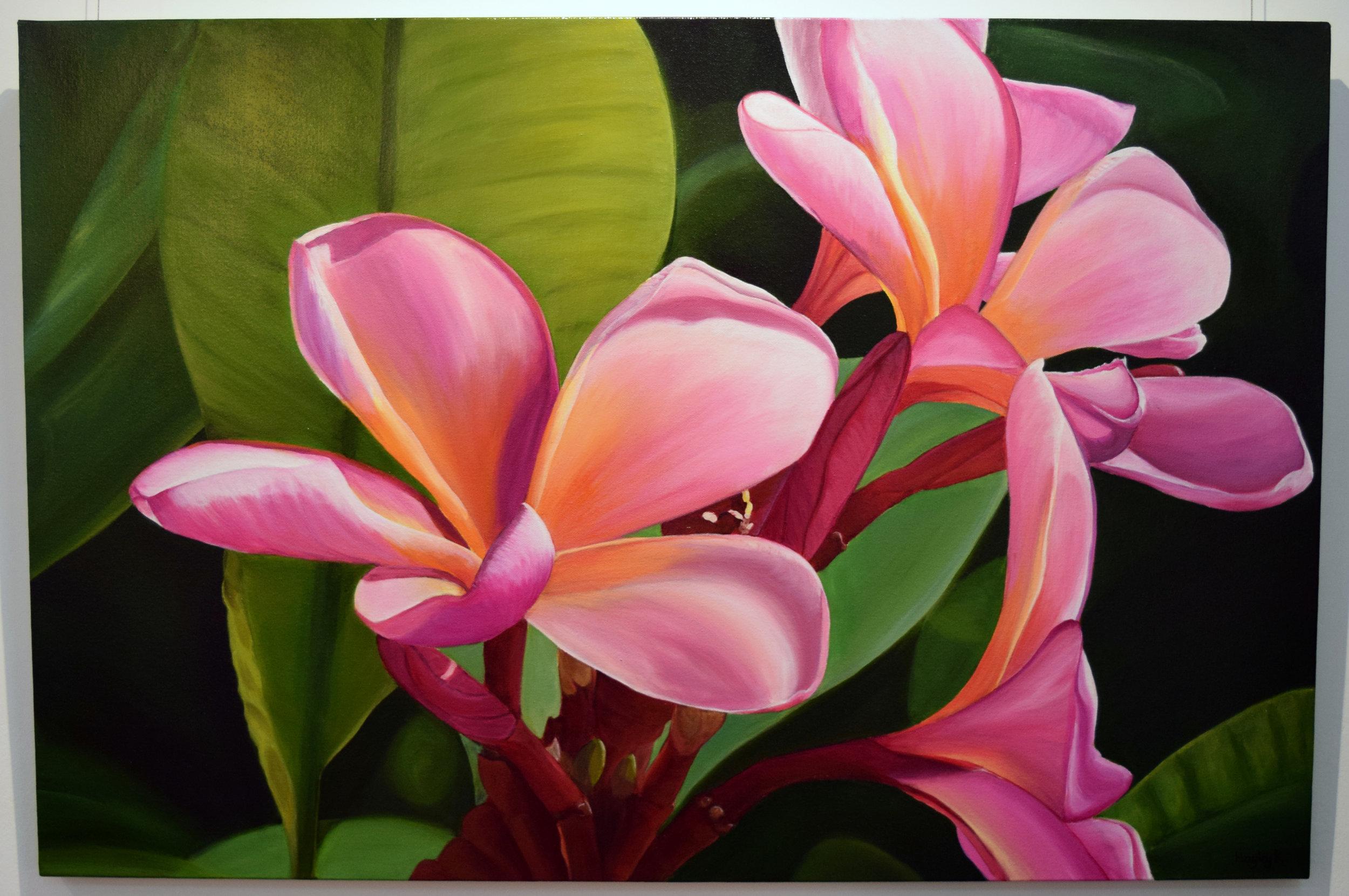 1. Hayley Krüger Gradwell, Pink Splash, 2018, acrylic on canvas, 61 x 91 cm, $850