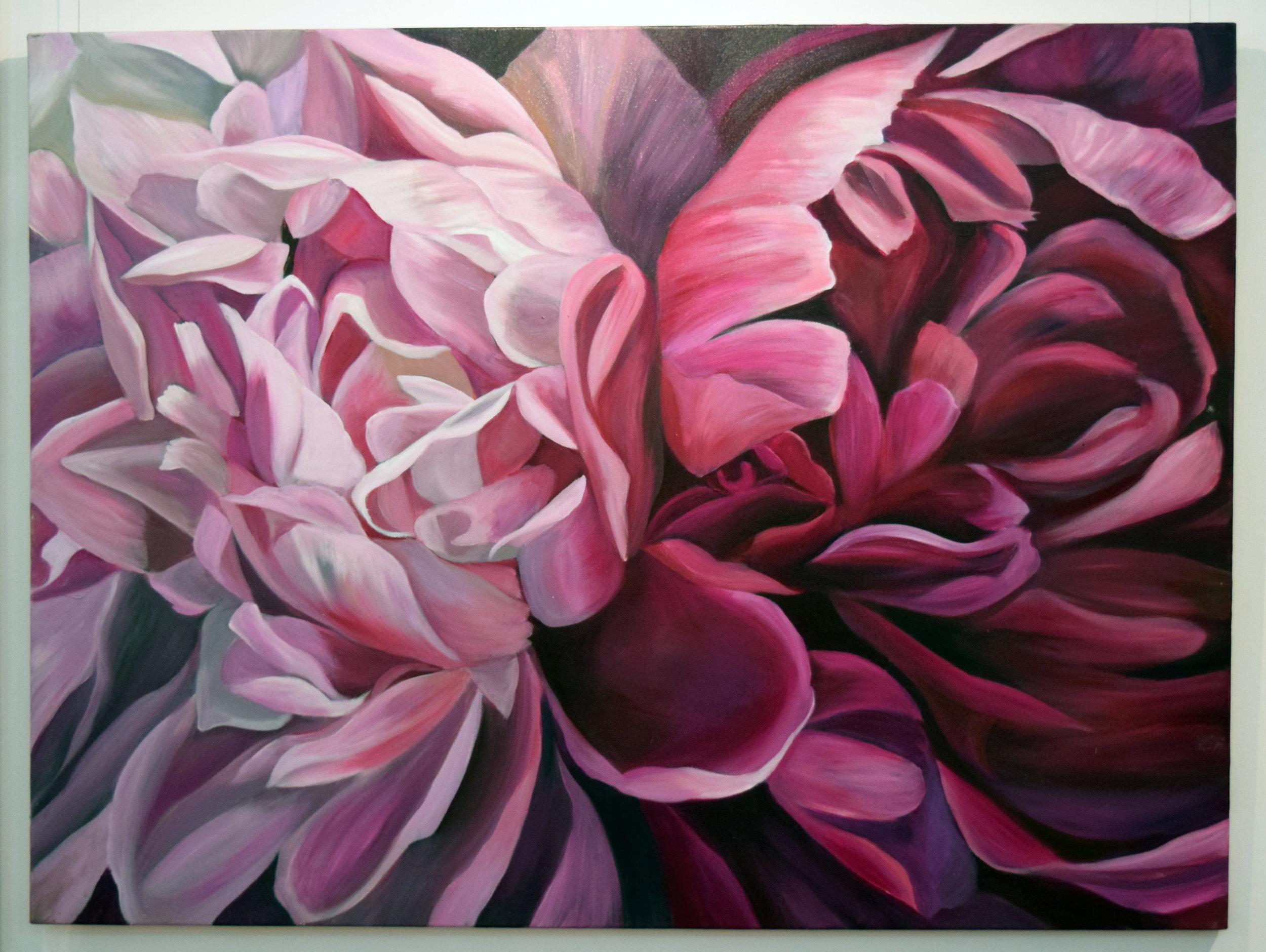 2. Jacqueline Coates, Pianissimo, 2013, acrylic on canvas, 90 x 120 cm, $4,200