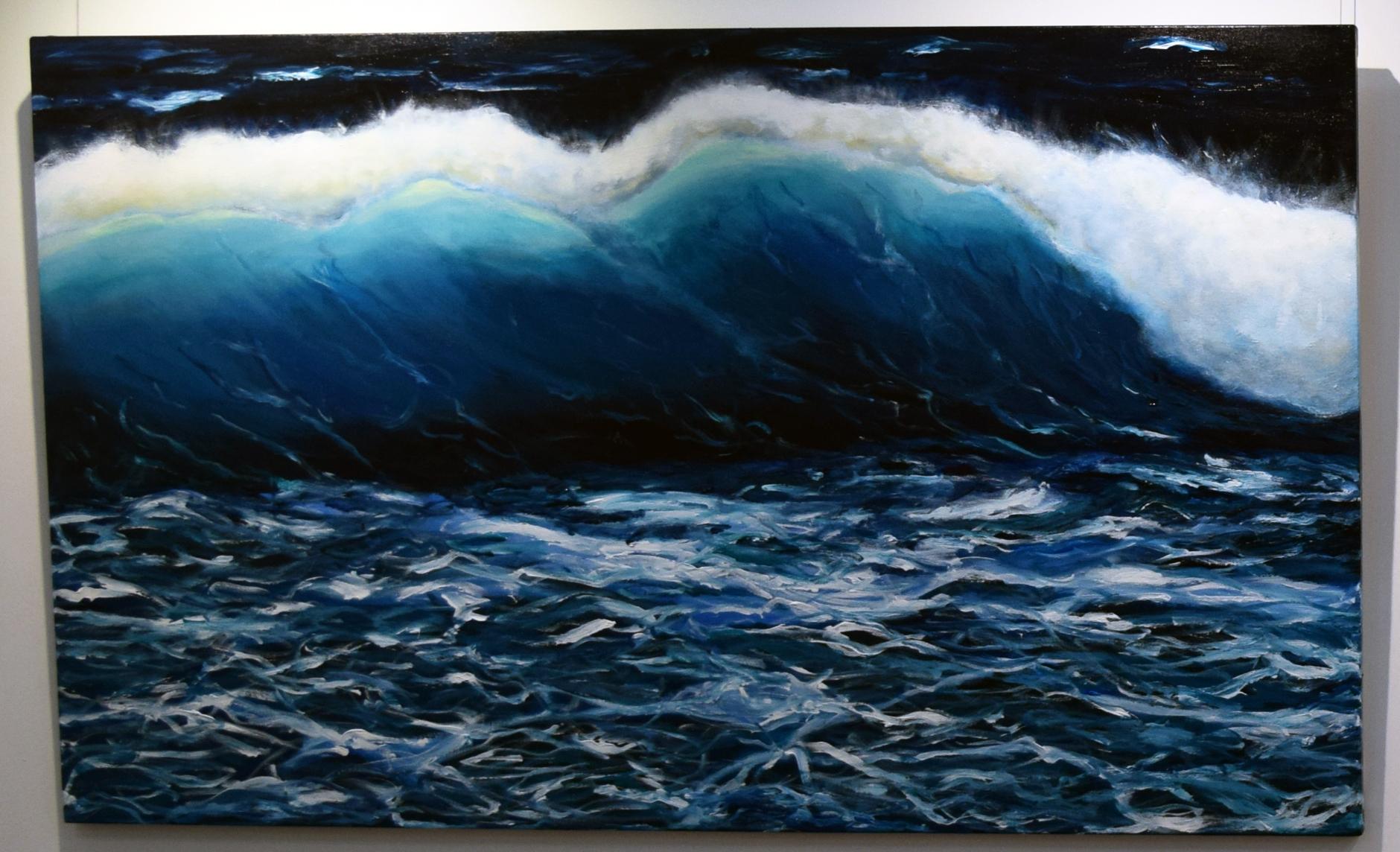 4. Jenny McGrath, Tempestuous, 2018, acrylic on canvas, 90 x 150 cm, $1,480