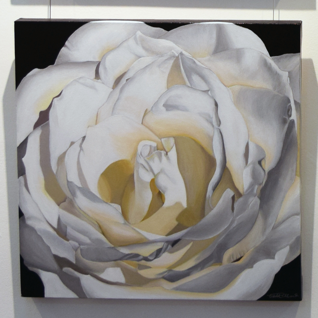 12. Pat Hillard, Bianca Rosa, 2018, acrylic on canvas, 46 x 46 cm, $680