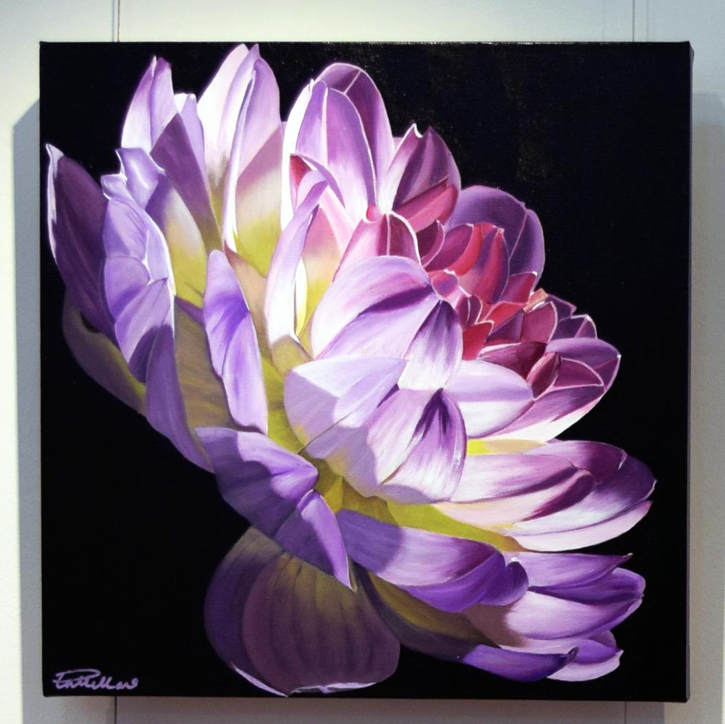 11. Pat Hillard, Incandescent, 2018, acrylic on canvas, 46 x 46 cm, $680