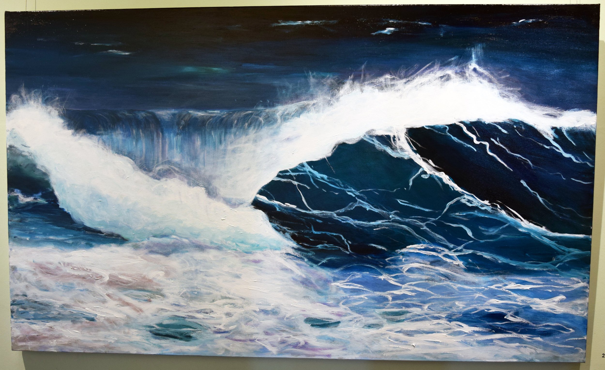 22. Jenny McGrath, Tumultuous, 2018, acrylic on canvas, 90 x 150 cm, $1,480