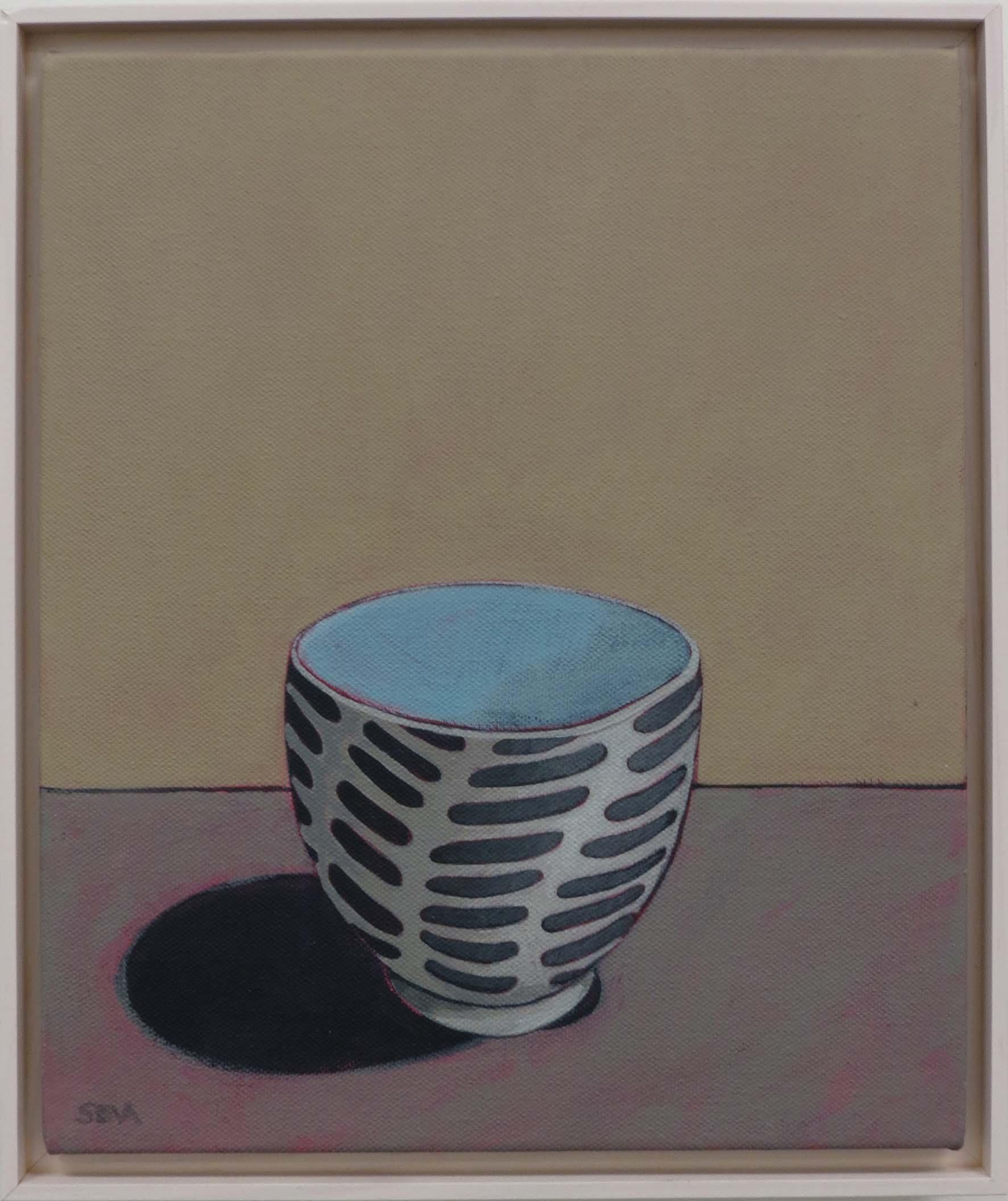 7. Sue Eva, 'Black, White', 2018, Acrylic on canvas, 30 x 25cm, $345