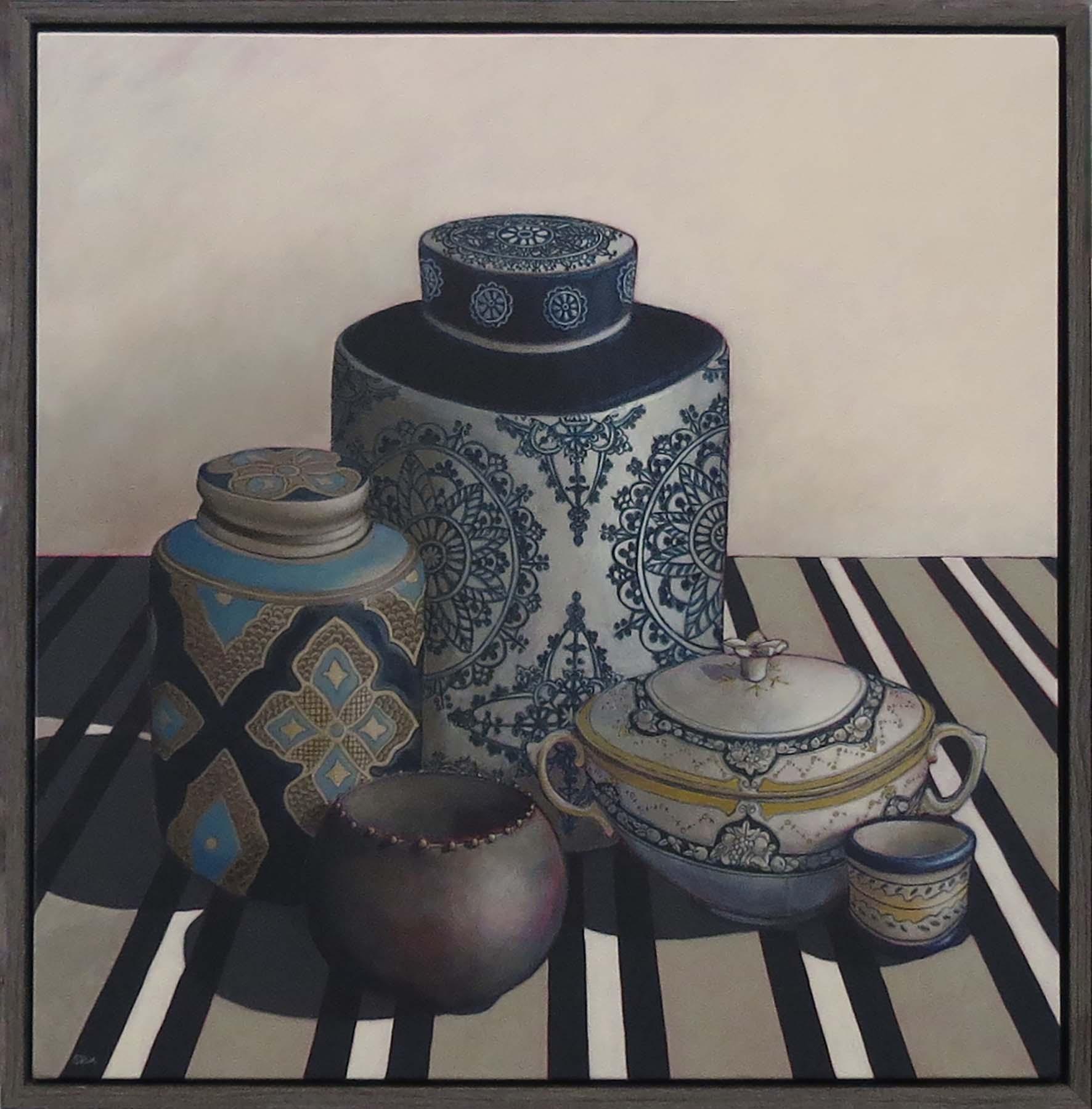 12. Sue Eva, 'Where Our Story Begins', 2018, Acrylic on canvas, 76 x 76cm, $1,195