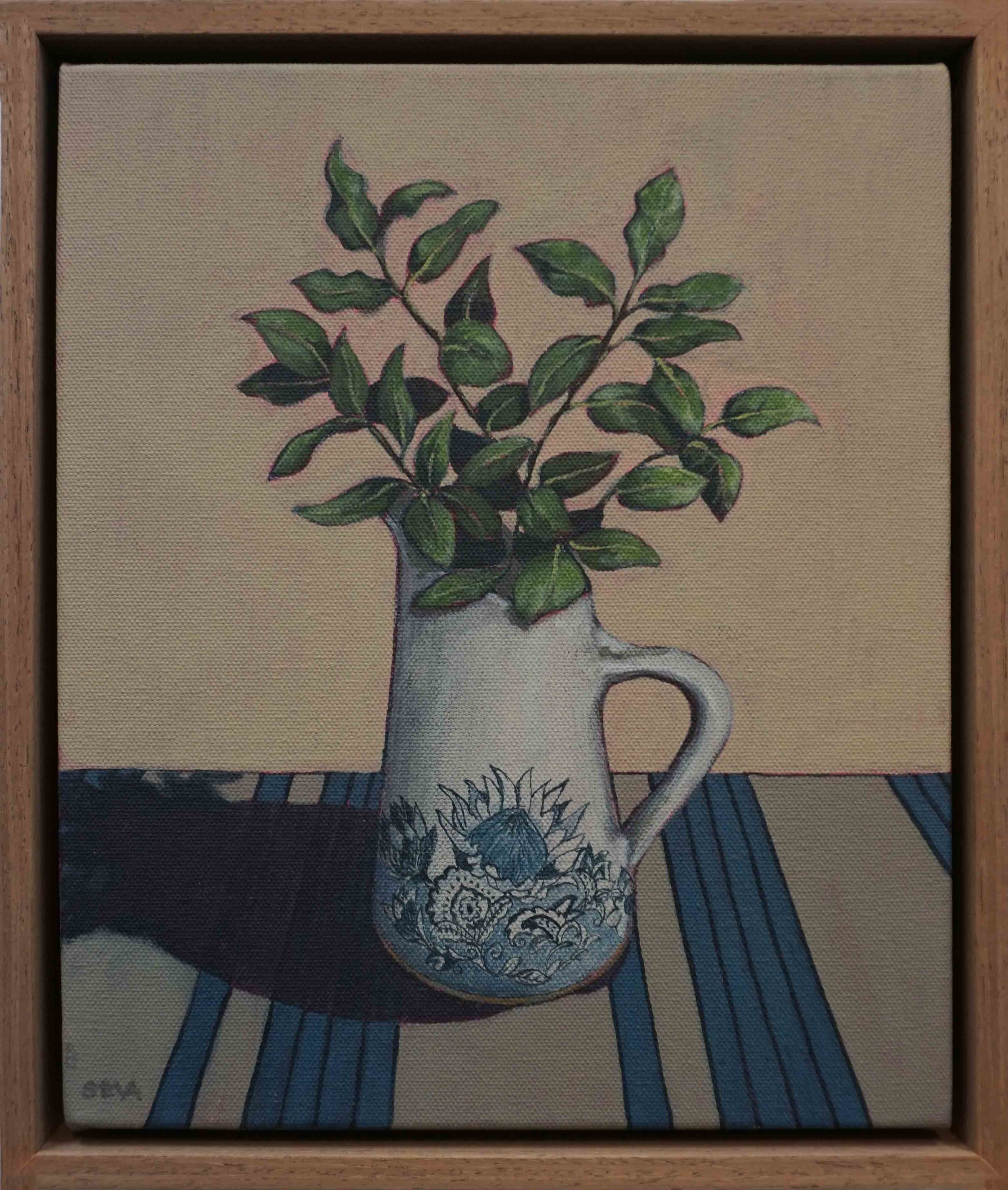 19. Sue Eva, 'The Town Jug', 2018, Acrylic on canvas, 30 x 25cm, $345