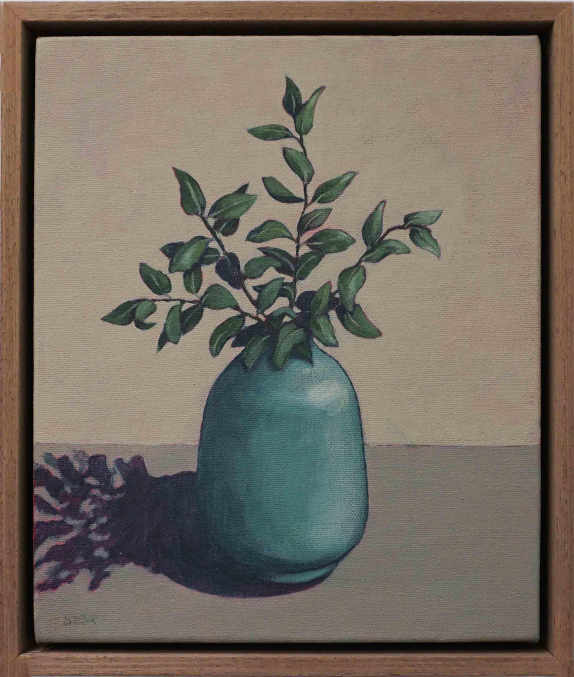 21. Sue Eva, 'Greenery', 2018, Acrylic on canvas, 30 x 25cm, $345
