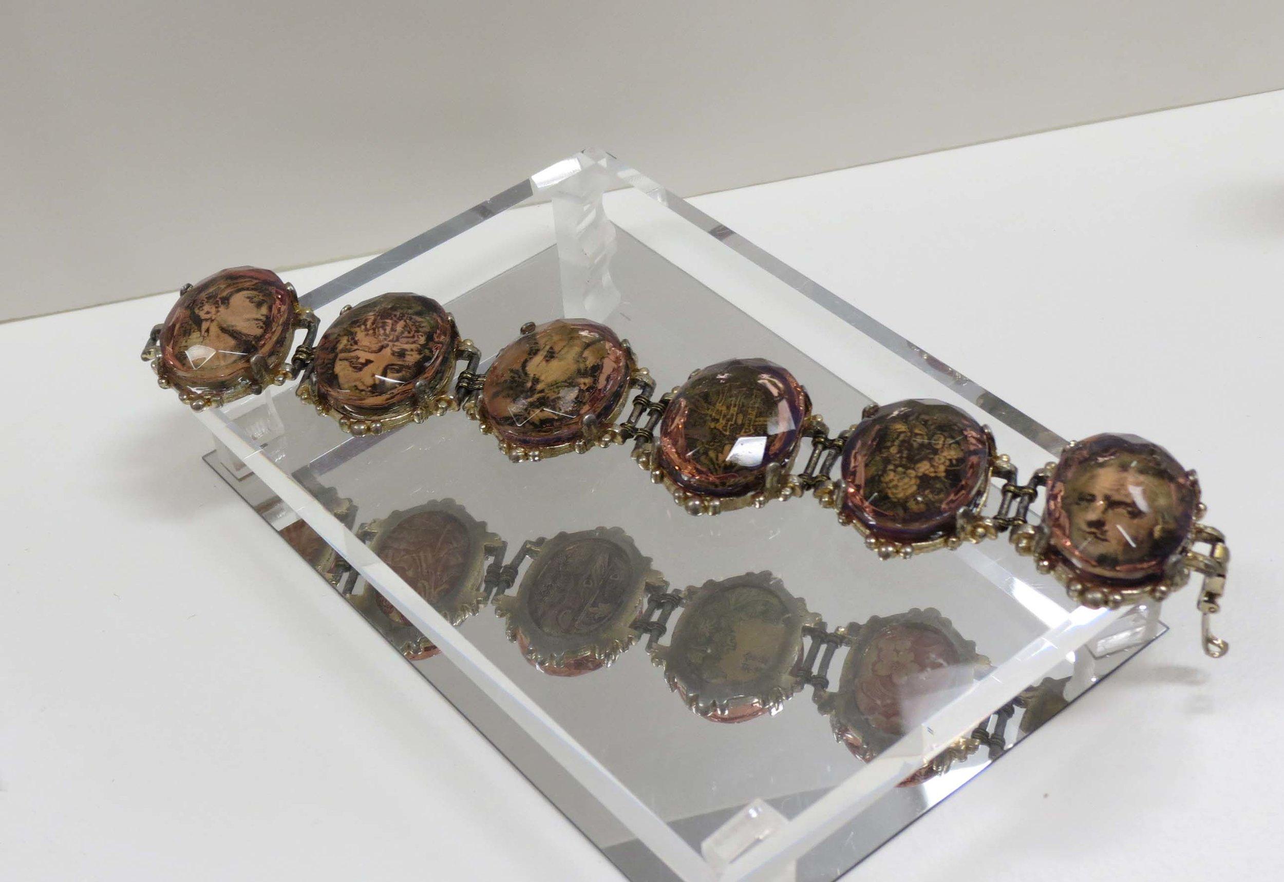 26. Kathy Aspinall, 'Russia', 2018, 1950's bracelet, Russian banknote, glass, resin, bracelet, $320
