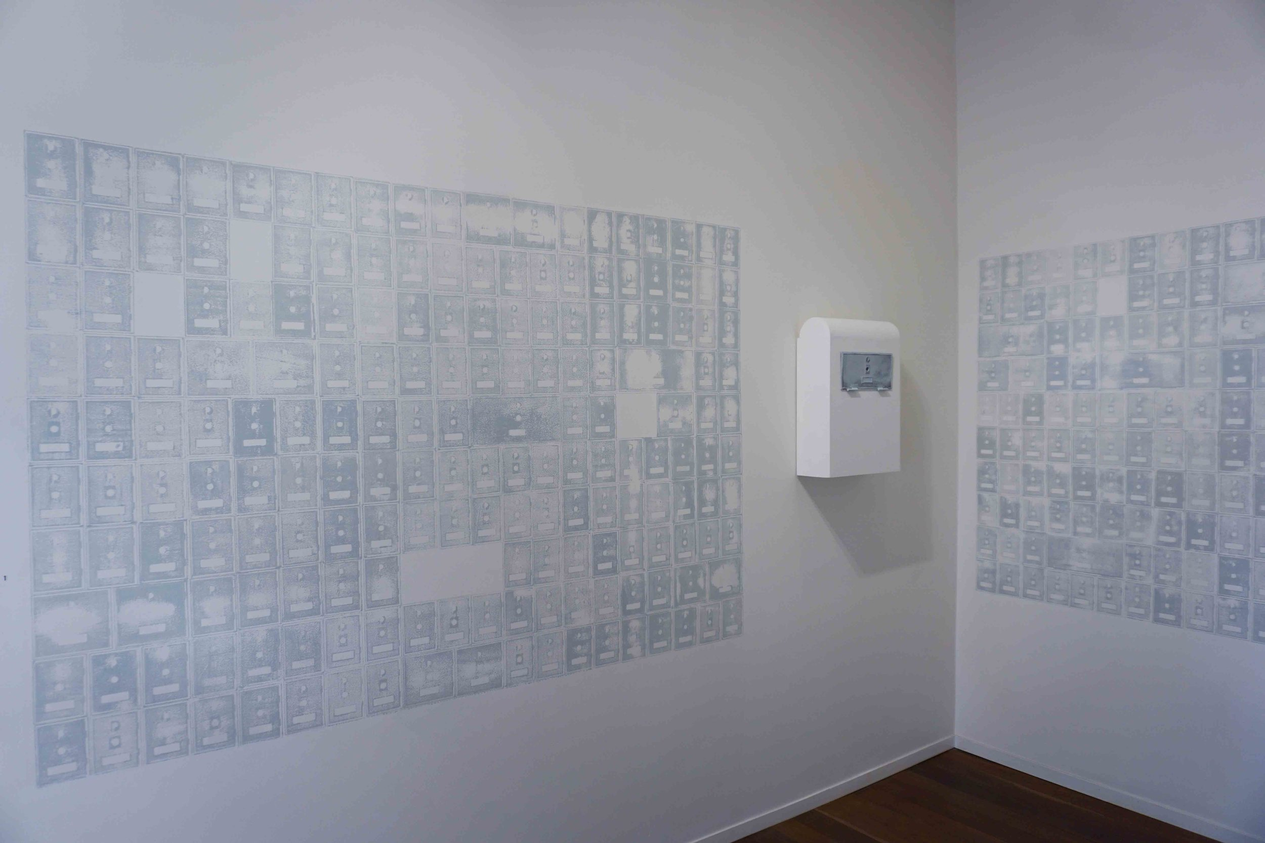1. Peter Dailey and Stephanie De Biasi,  Memorandum  (installation view), 2019, mixed media, dimensions variable. POA