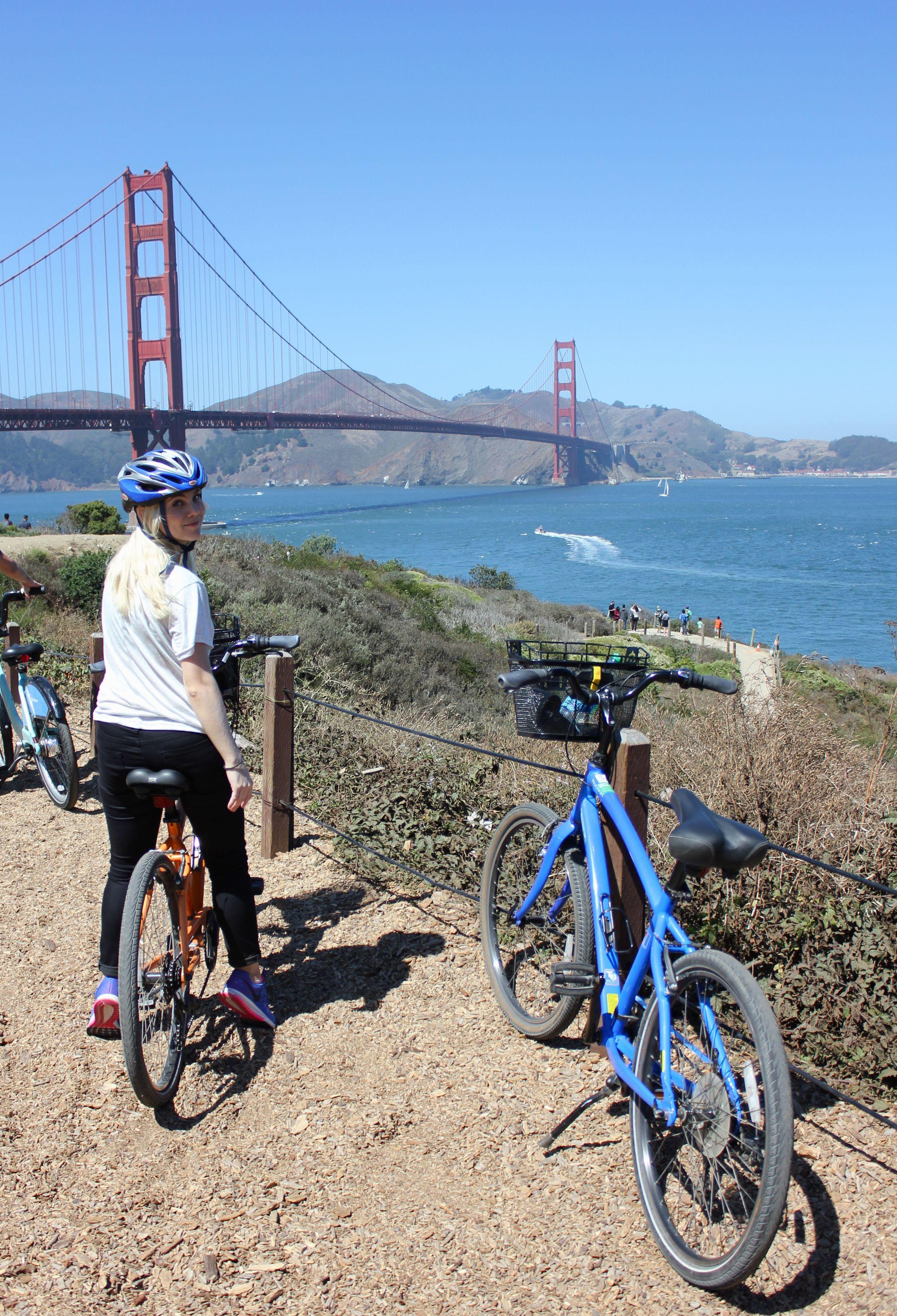 bike adventures over the bridge to Sausalito