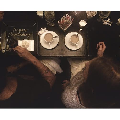 [coffee and cake with these two}