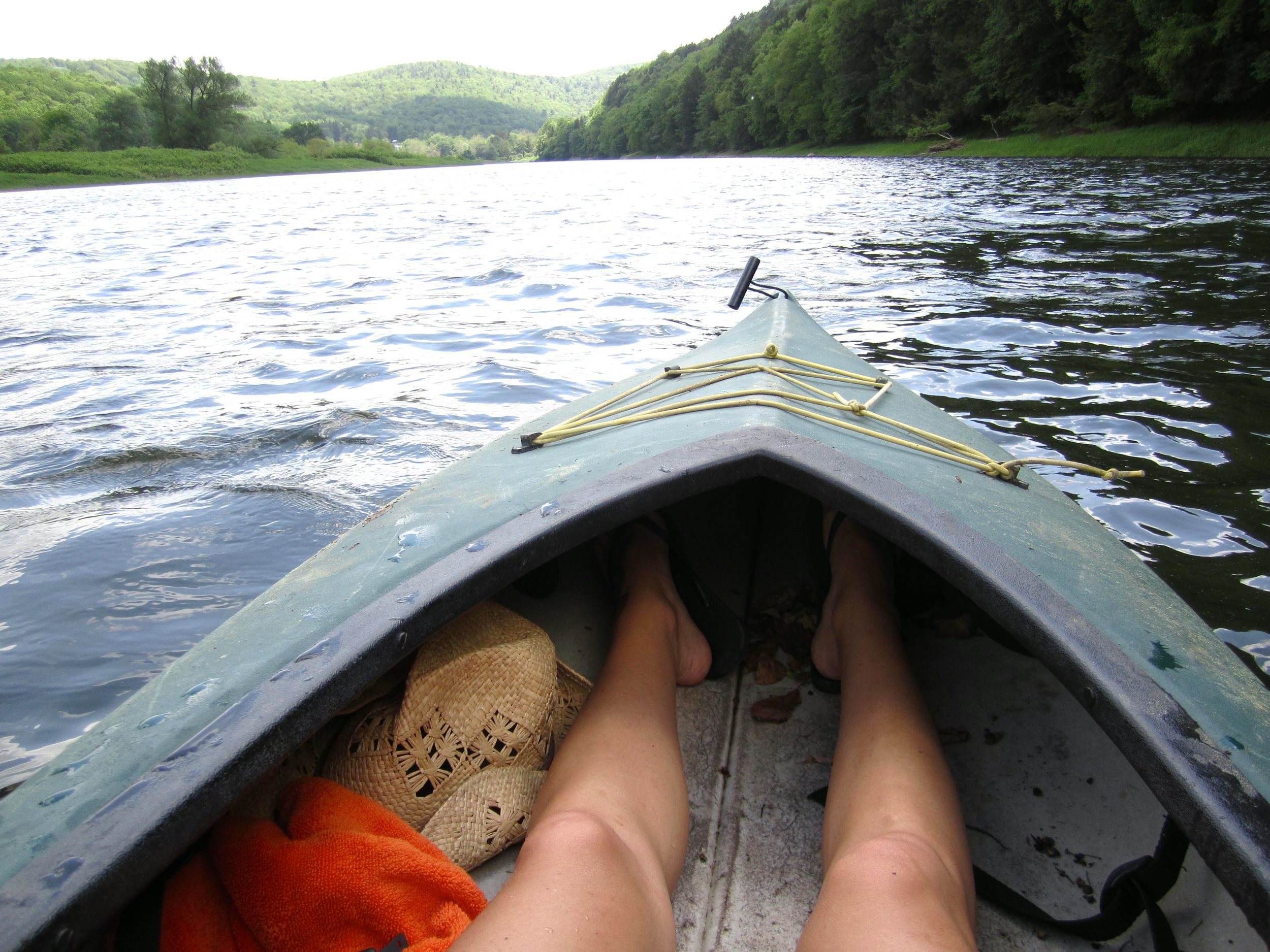 Outdoor camping and canoeing on the Delaware River - Bethel, NY.