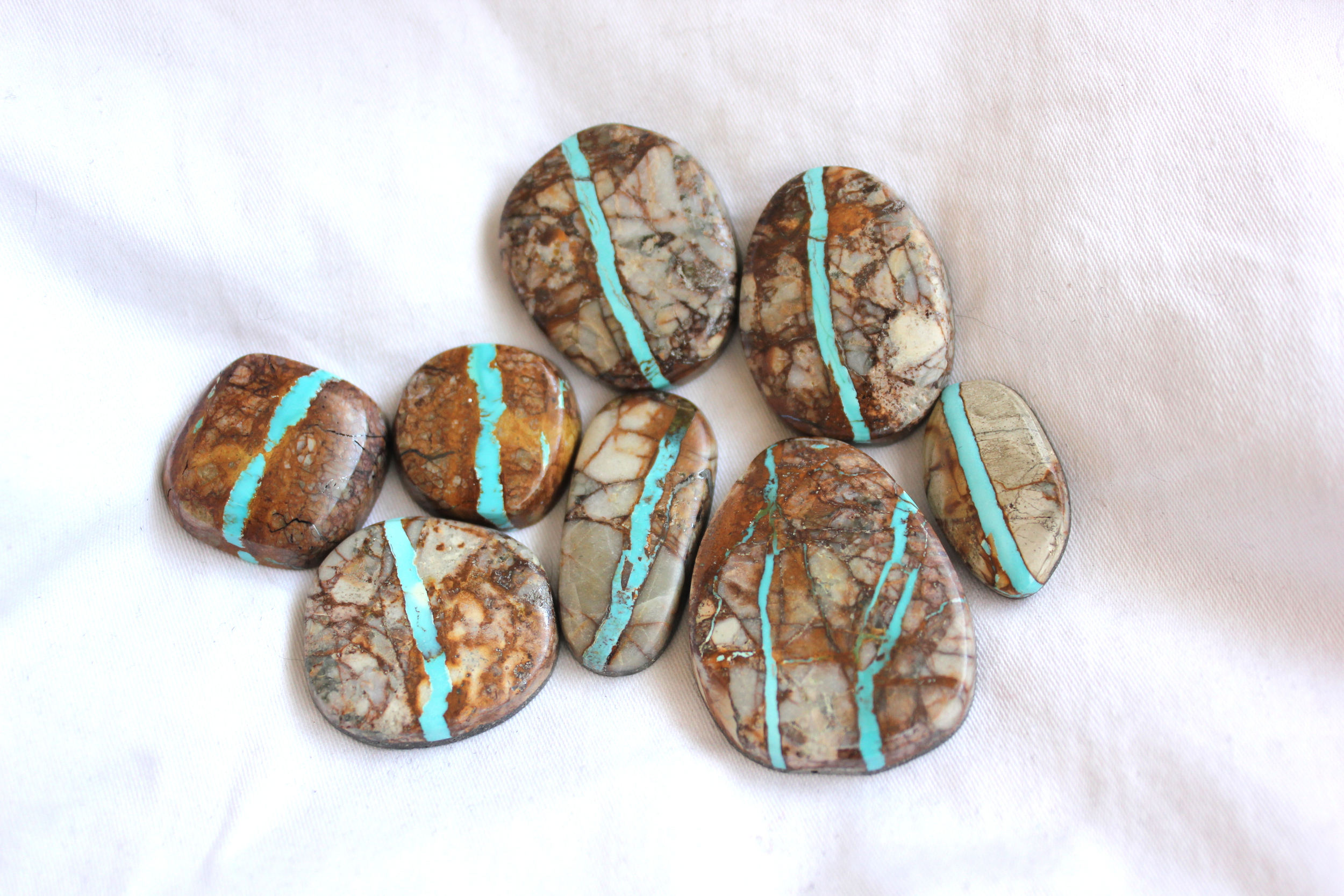 Royston Ribbon Turquoise mined in Nevada