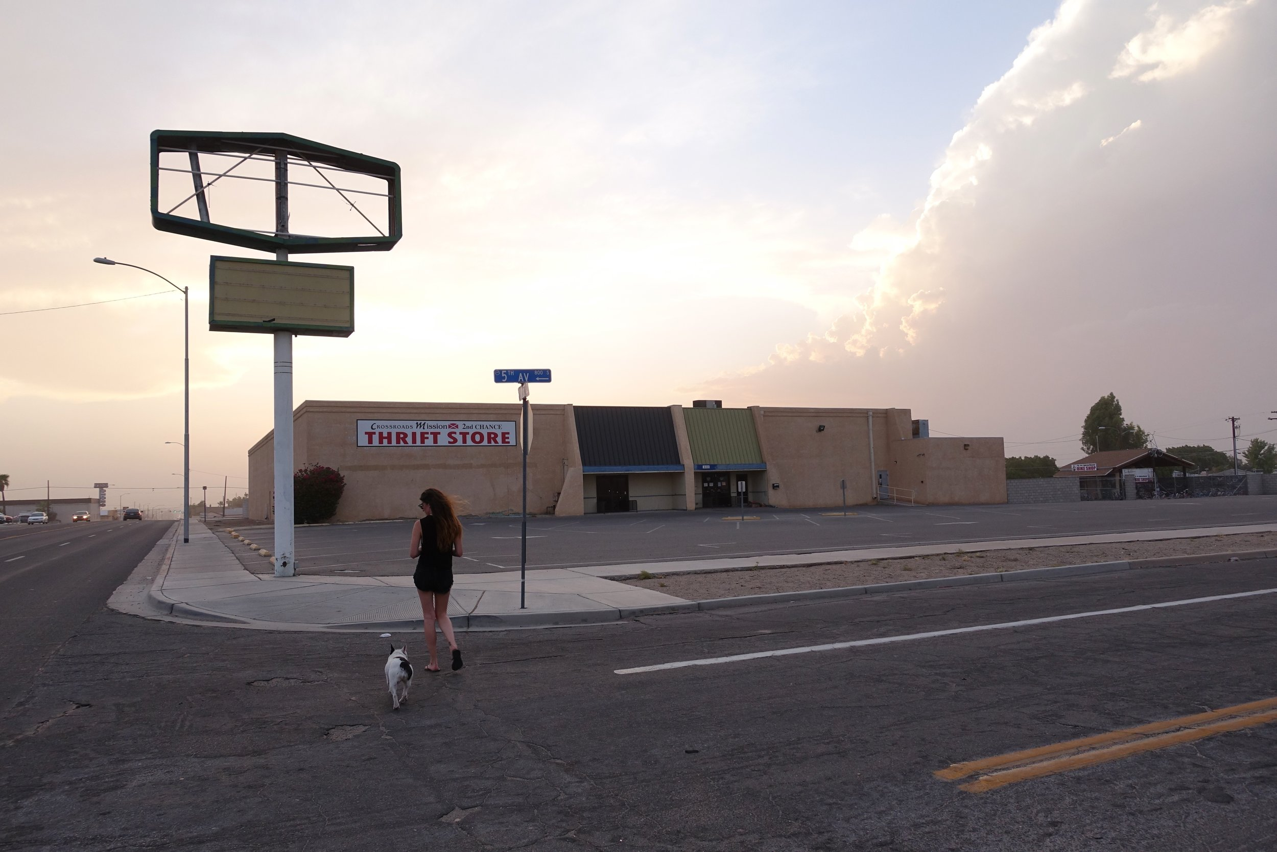 9. walking in a sand storm.. to get tacos of course. Yuma, AZ.