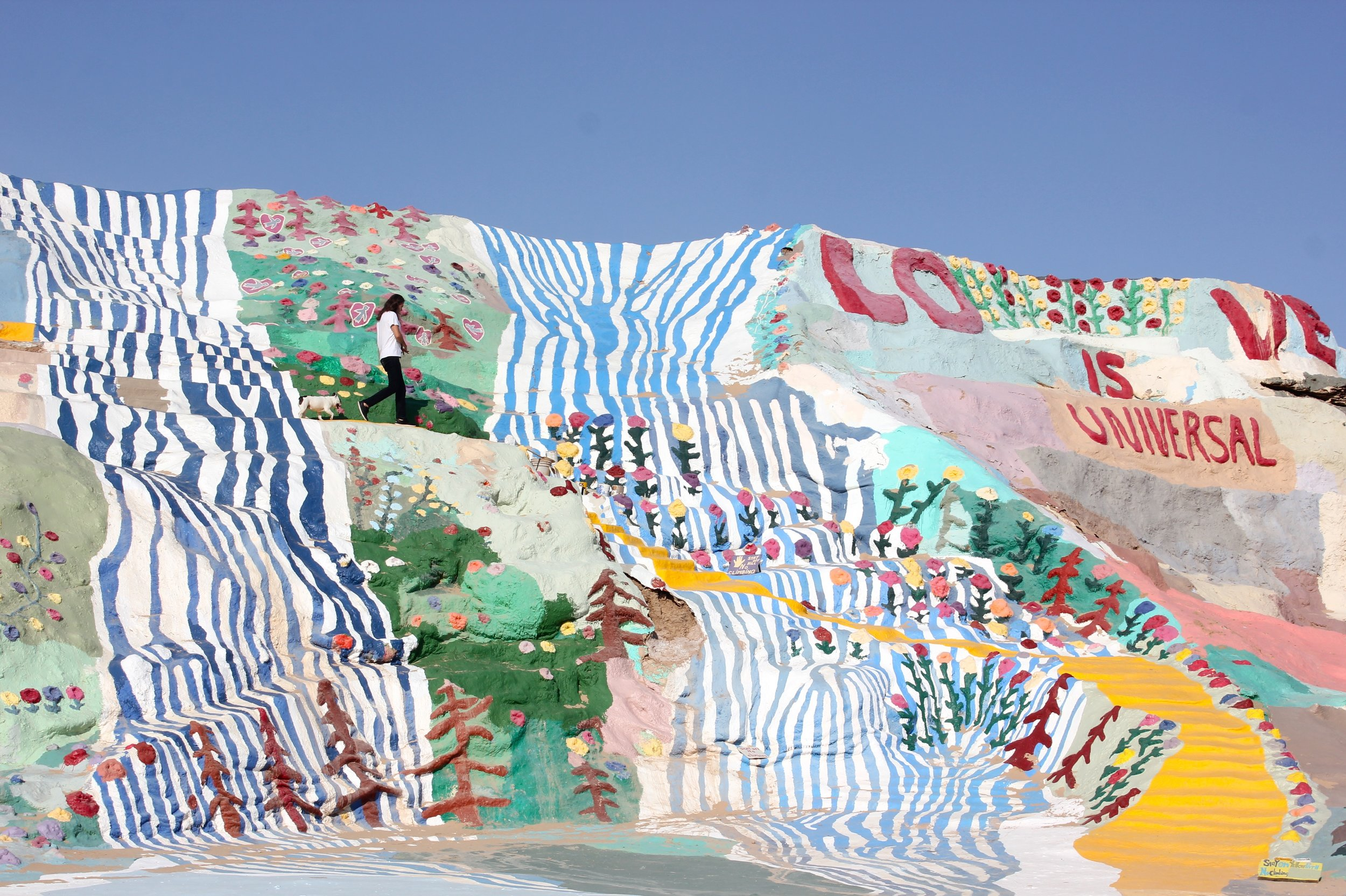 7. the roads less traveled with these two. Salvation Mountain. Slab City, CA.