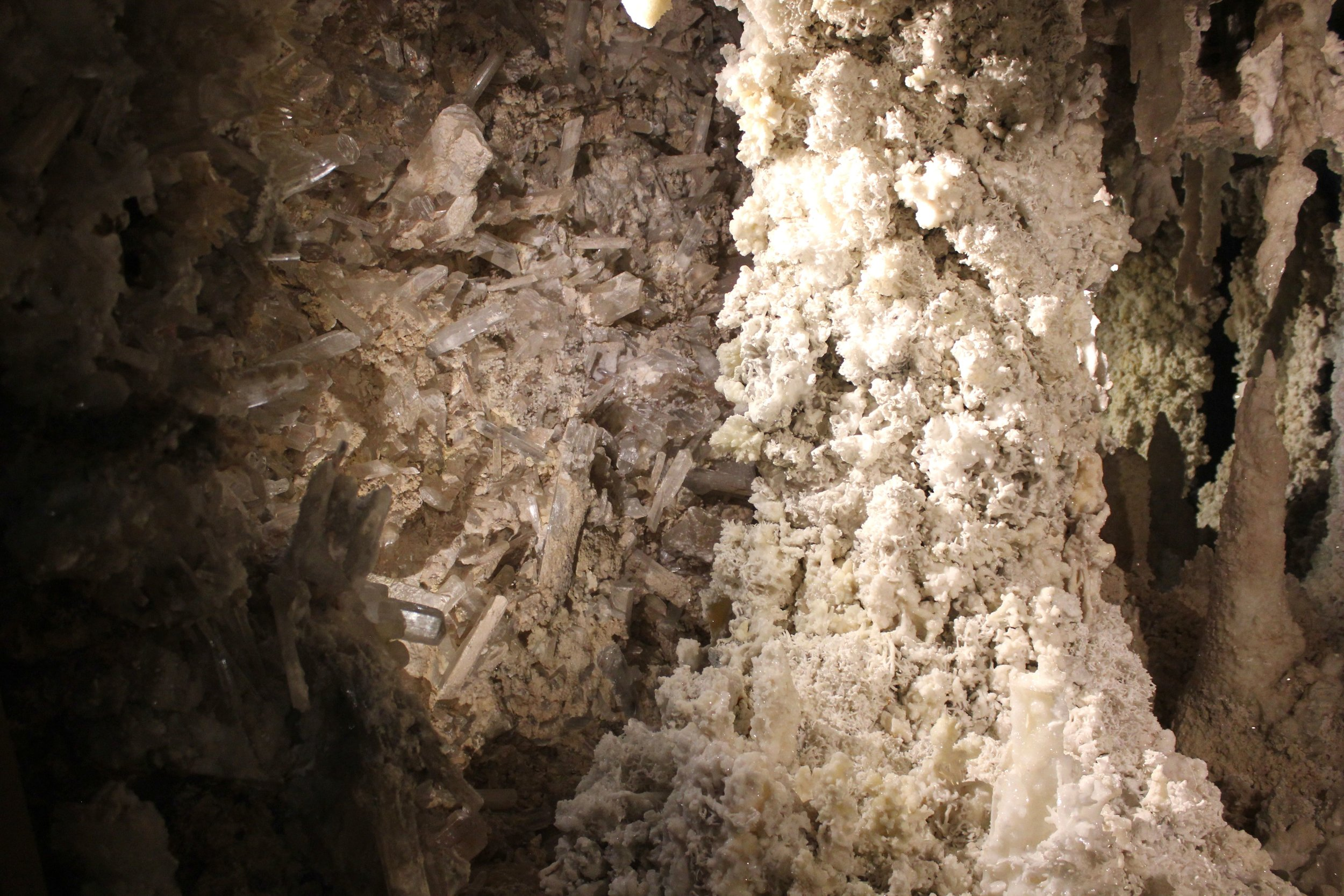 Crystal Caves transported from Mexico -  Denver Museum of Nature & Science
