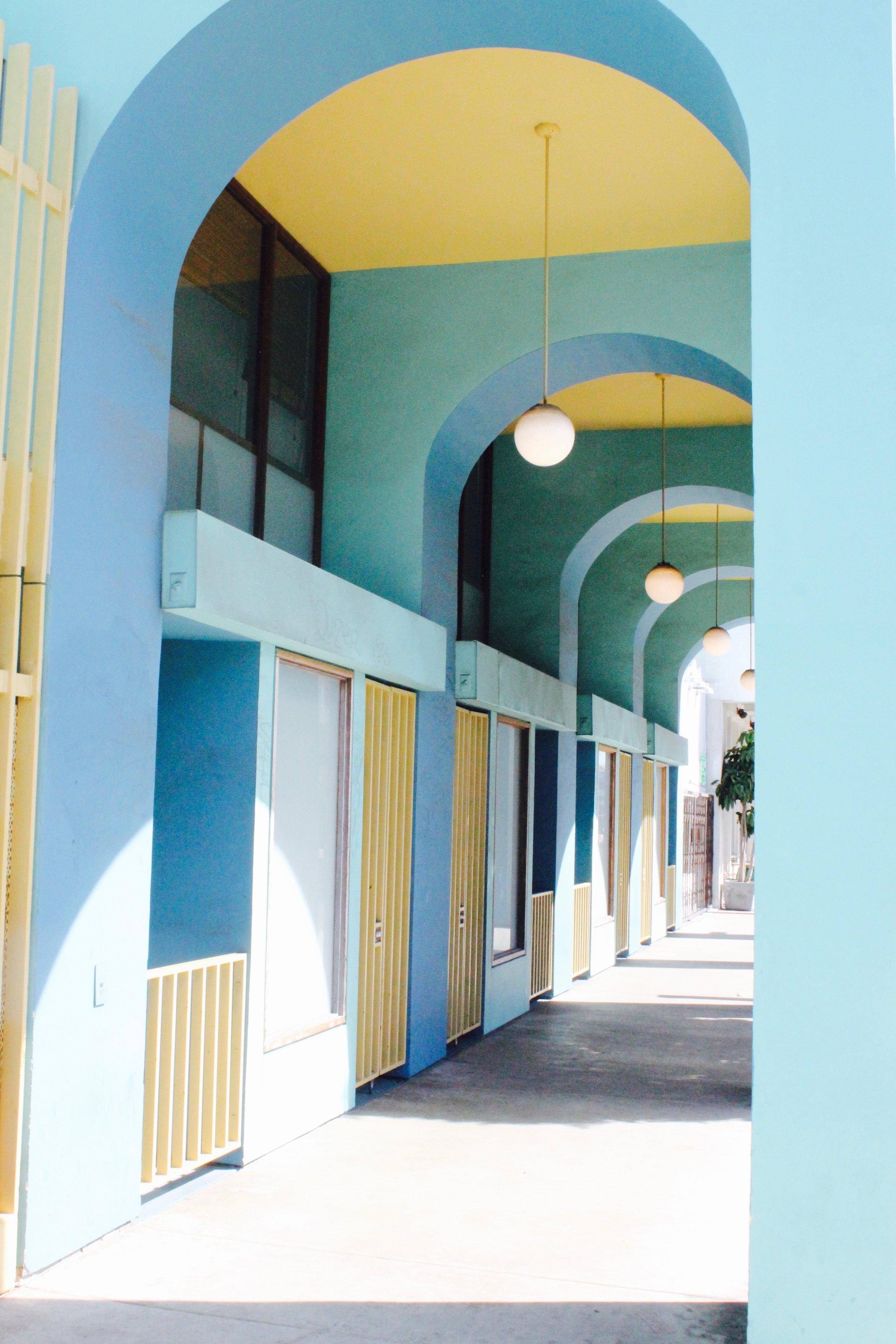 Building aesthetics at Venice Beach