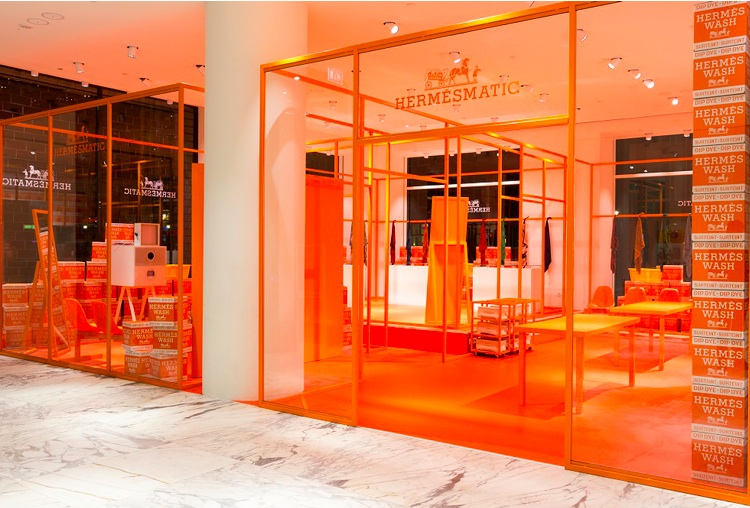 Hermésmatic pop up stores were launched in Amsterdam, Munich, Strasbourg and Kyoto Image credit:  Alumind.com