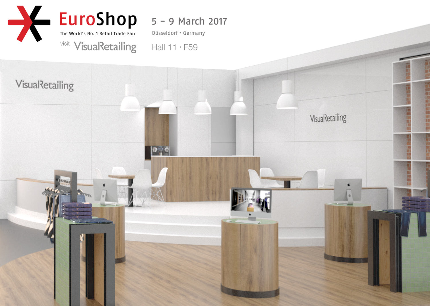 Rendering preview of Visual Retailing's EuroShop 2017 booth