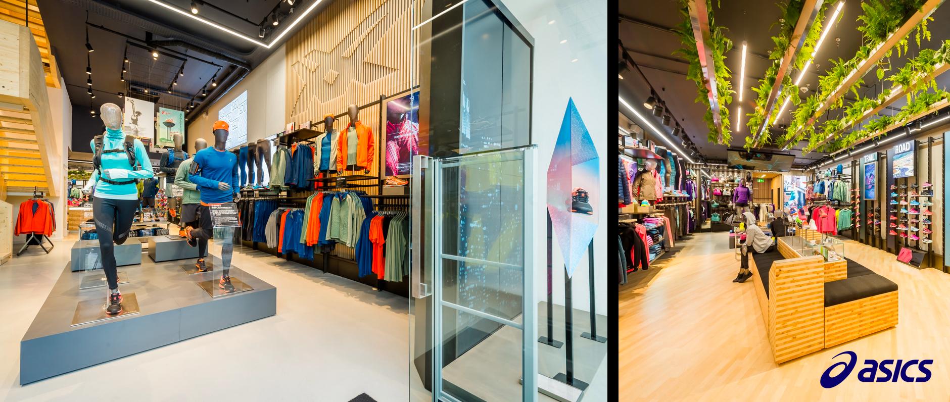 Asics, Sportswear, Sportsfashion Visual Merchandising, Visual Merchandising Software, Planogram Software, Planogram Software for retail